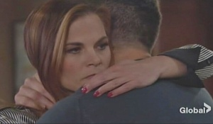 phyllis embrace nick with concern