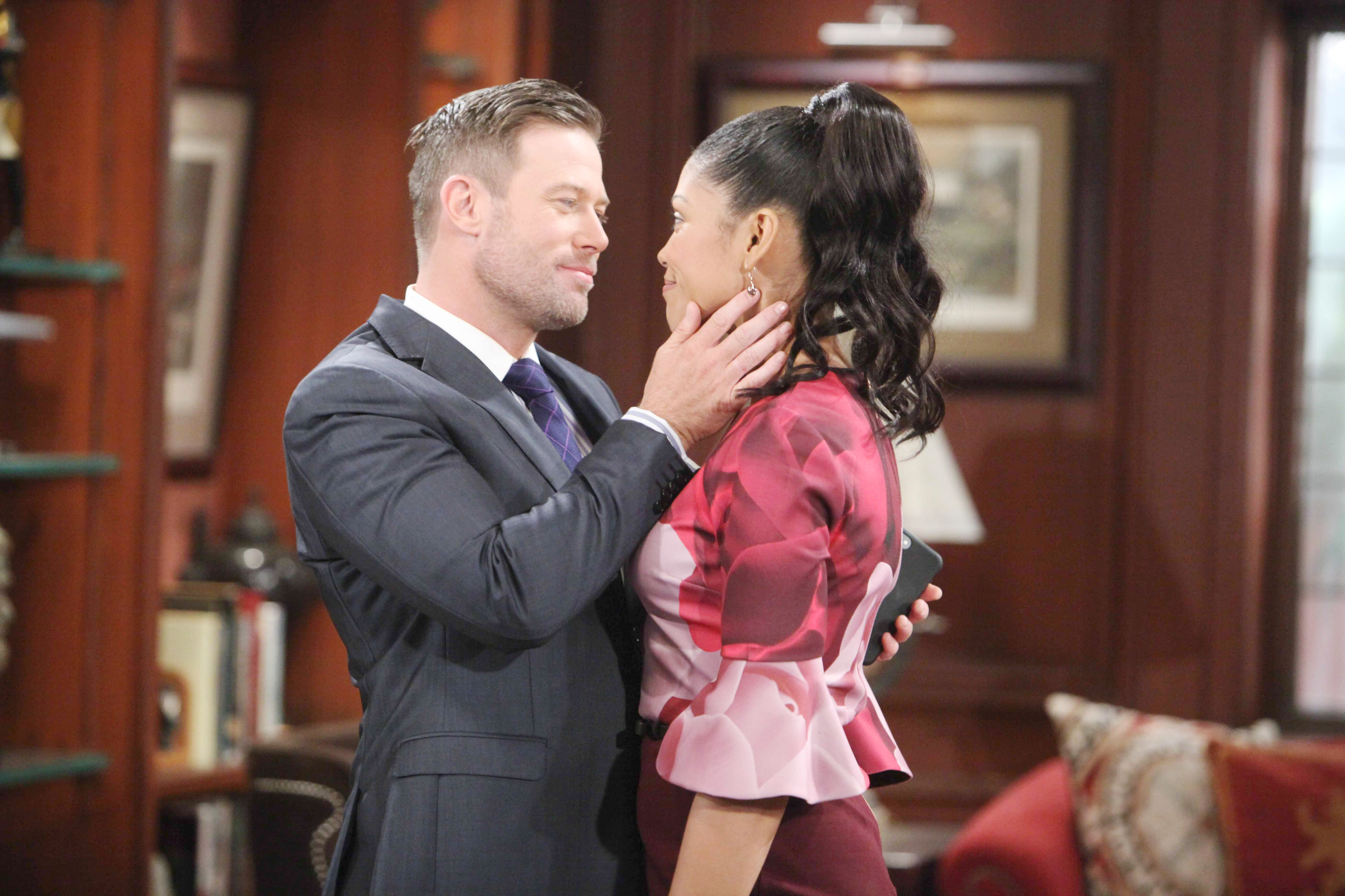 B&B's Rick and Maya on Valentine's Day 2018