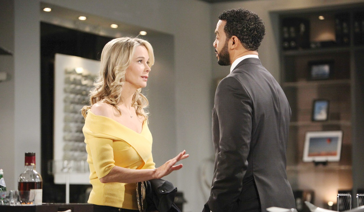 Donna confers with Justin