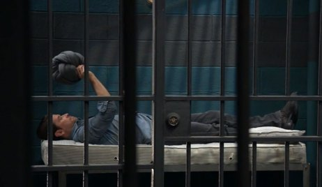 Franco in his jail cell GH