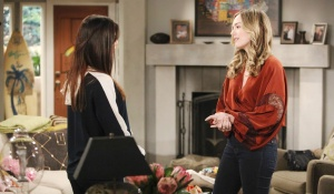 Steffy and hope discuss phoebe
