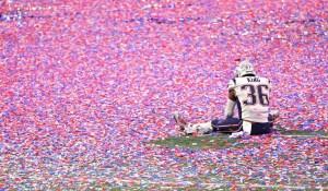 patriot after super bowl confetti