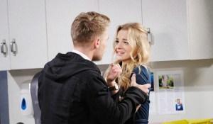 claire frightened when Tripp manhandles her