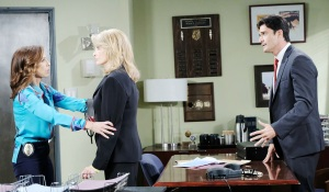 hope, marlena and ted worry over ciara