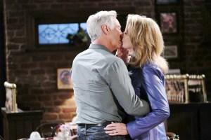 john and marlena kissing