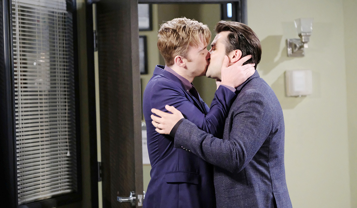 sonny and will kiss hard