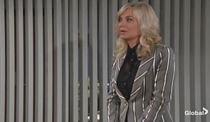 Ashley talks at Jabot on Young and Restless
