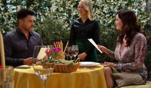 Bill lunches with Katie on Bold and the Beautiful