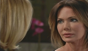Brooke and taylor square off on Bold and the Beautiful
