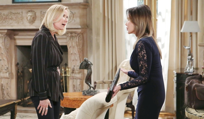 Brooke argues with Taylor on Bold and the Beautiful