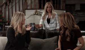 Carly admits she's pregnant on General Hospital