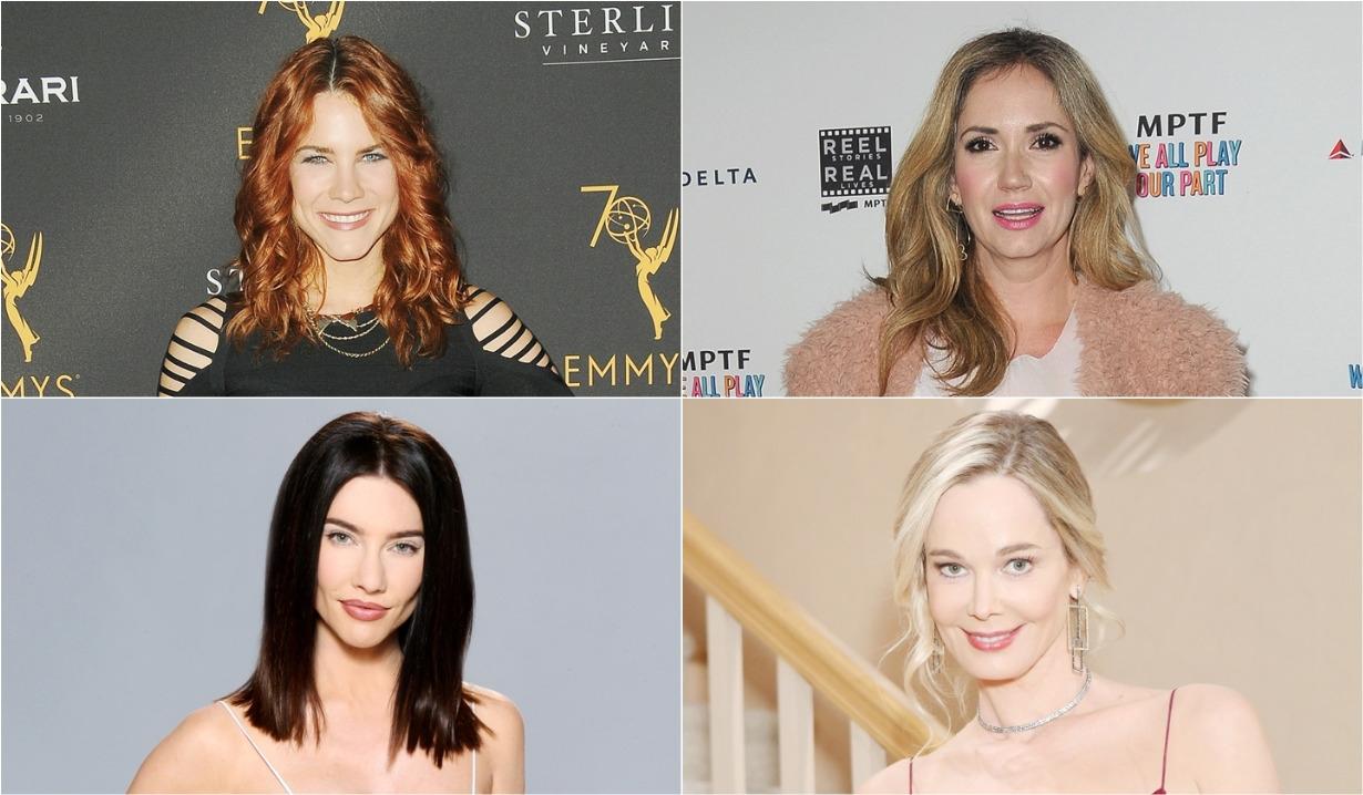 Courtney Hope, Jaqueline Wood, Jennifer Gareis, Ashley Jones Bold and the Beautiful 32 anniversary party