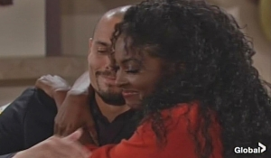 Devon Ana embrace on Young and the Restless