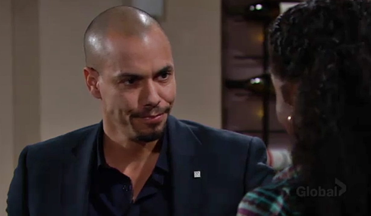Devon questioning Ana on Young and the Restless