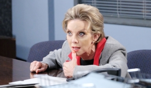 diana at desk on Days of our Lives