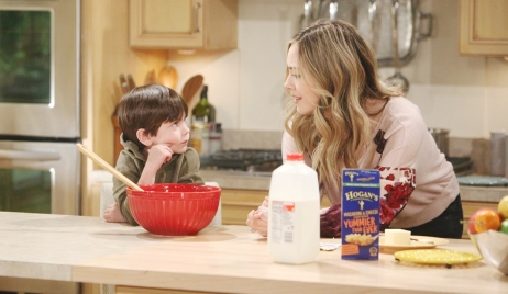 Douglas and Hope in kitchen on Bold and the Beautiful