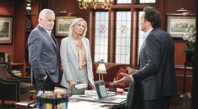 Eric, Ridge and Brooke talk on Bold and the Beautiful
