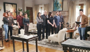 Family gathers around Thomas on Bold and the Beautiful