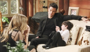 Thomas and Douglas visit Hope on Bold and the Beautiful