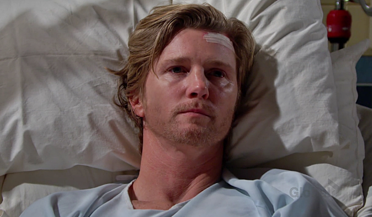 JT in his hospital bed on Young and the Restless