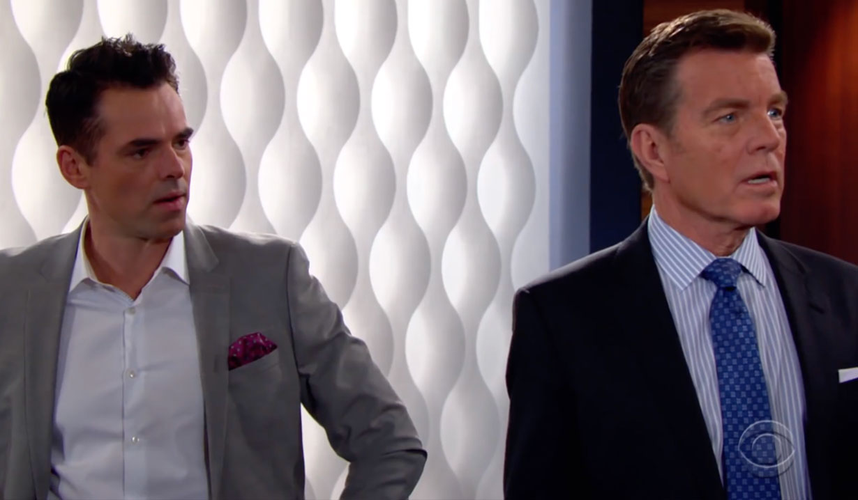 Jack and Billy shocked on Young and the Restless