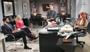 Justin Donna Wyatt and Sally meet on Bold and the Beautiful