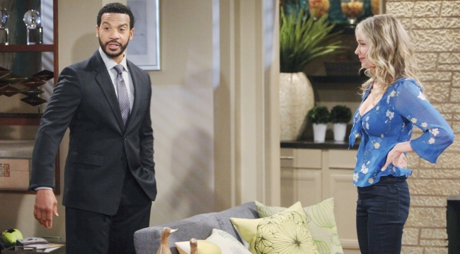 Justin and Donna meet at the house on Bold and Beautiful