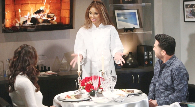 Katie, Bill and Chef Chambre on Bold and Beautiful