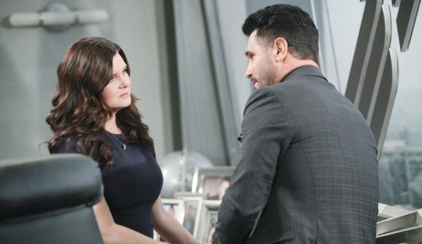 Katie and Bill sad on Bold and Beautiful