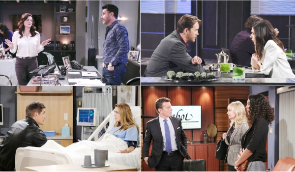 soaps spoiler digest for april 1 5 old flames new problems the bold and the beautiful. Black Bedroom Furniture Sets. Home Design Ideas