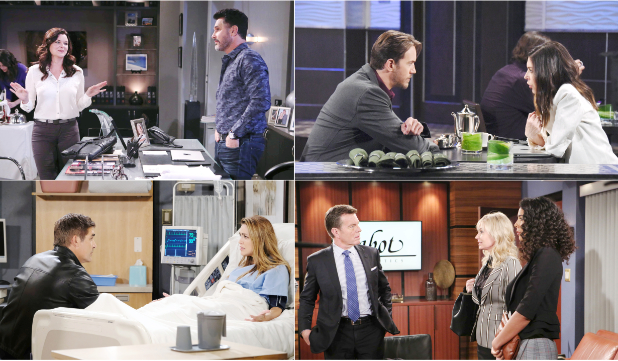 4-1-19 spoilers for bold and beautiful days of our lives general hospital young and restless
