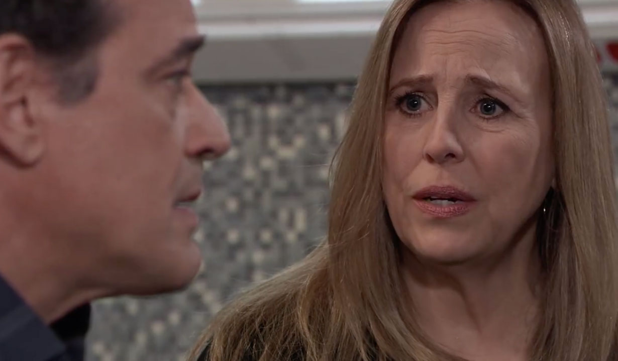 Laura questions Kevin on General Hospital