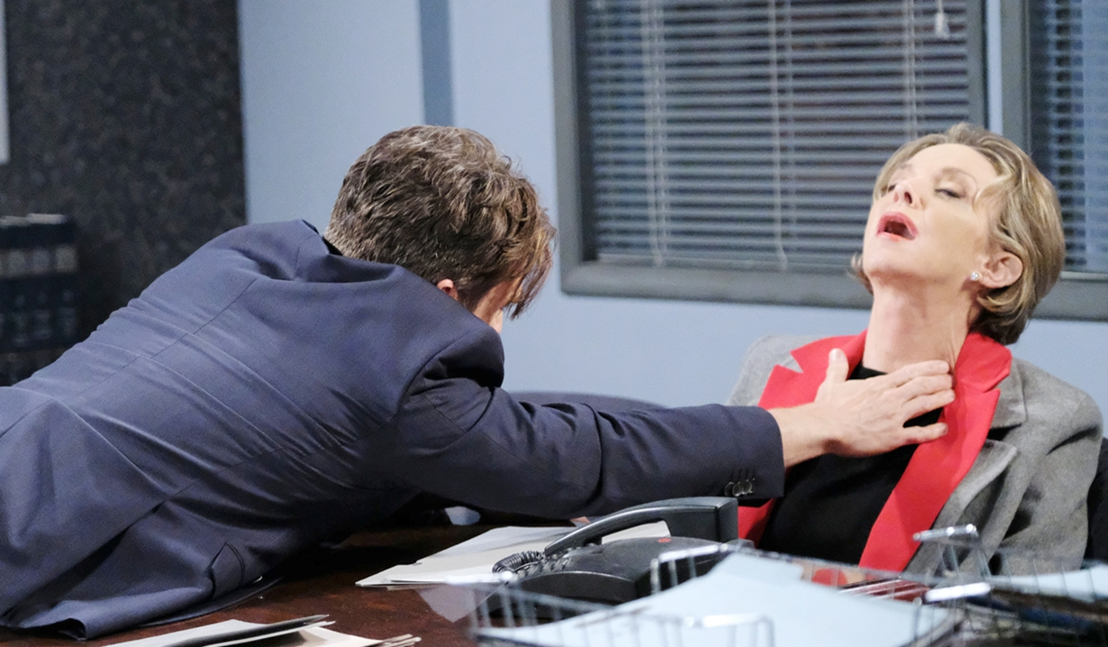 leo lunges for diana on days of our lives