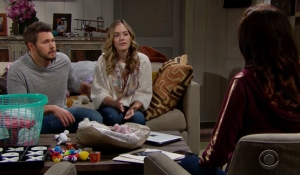 Liam and Hope hear Steffy's plans on Bold and the Beautiful
