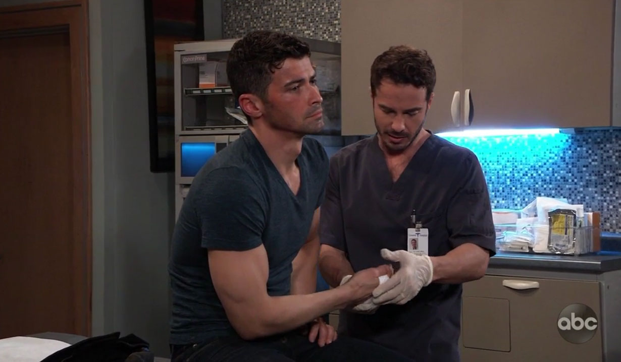 Lucas helps Griffin on General Hospital