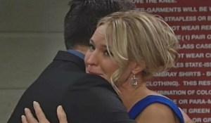 Nick hugs Sharon