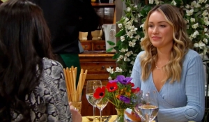 Quinn and Flo have lunch on Bold and Beautiful