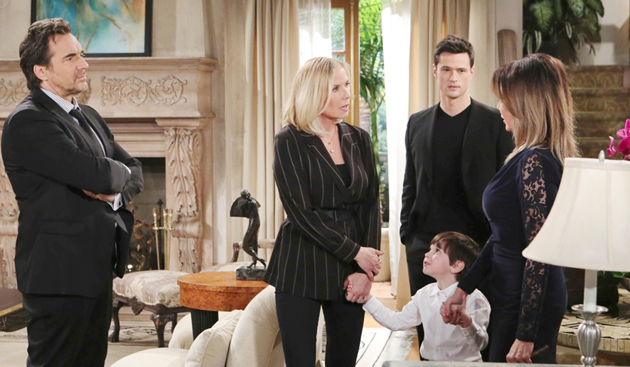 Ridge, Thomas and Douglas join Brooke and Taylor on Bold and the Beautiful