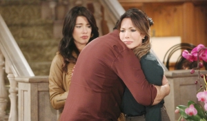 Ridge embraces Taylor on Bold and the Beautiful