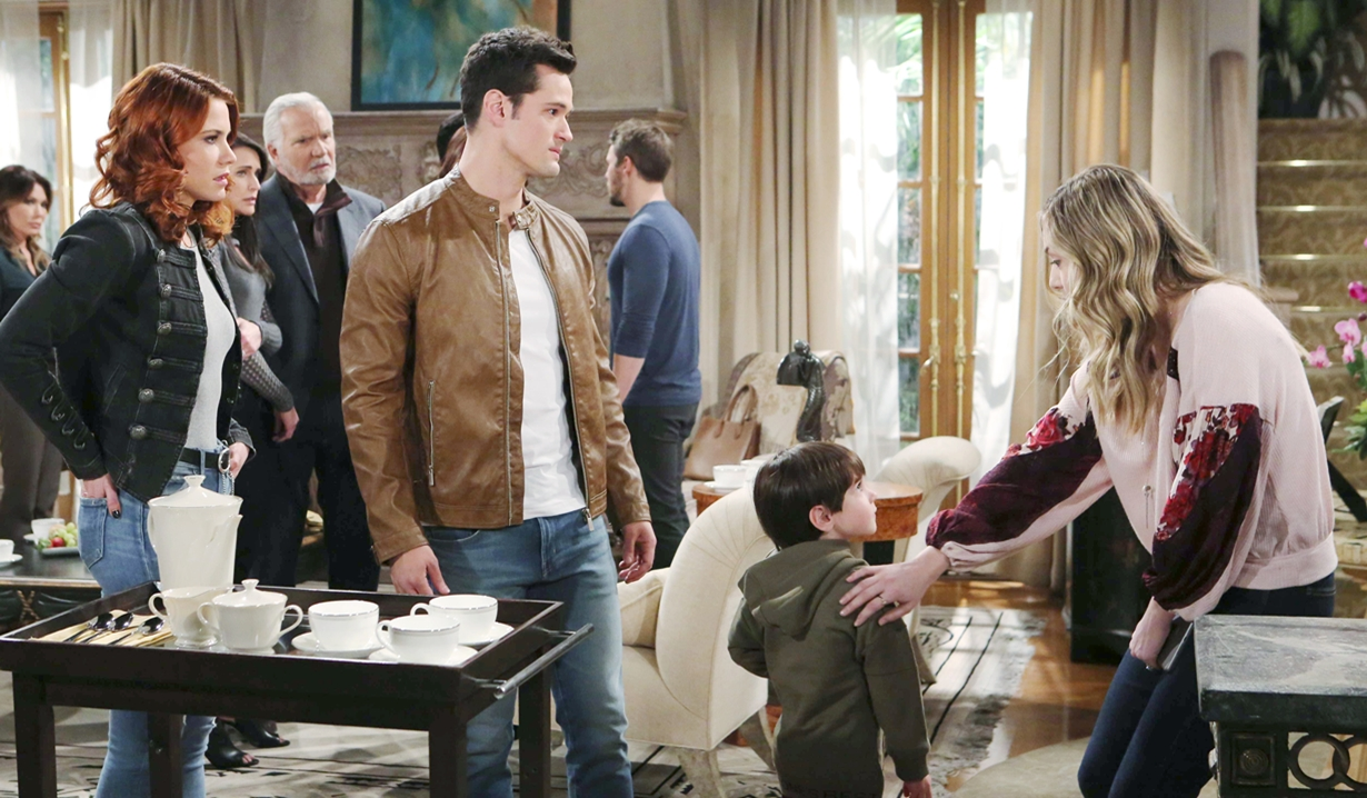 Sally and Thomas with Douglas and Hope on Bold and the Beautiful