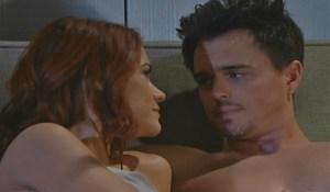 Sally and Wyatt joke in bed
