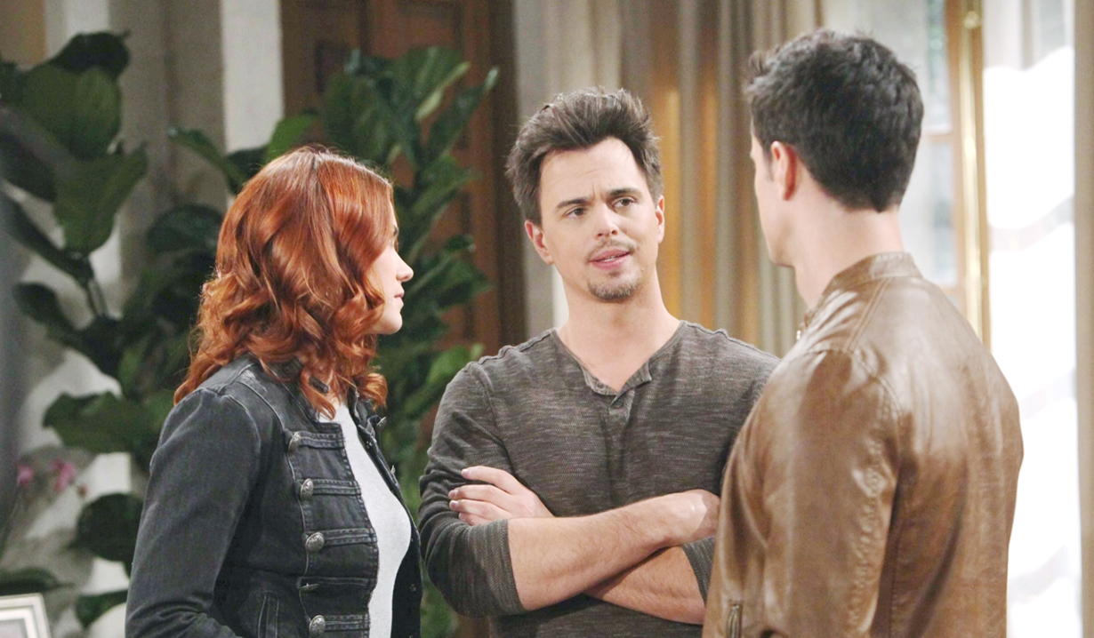 Sally and Wyatt talk to Thomas on Bold and the Beautiful