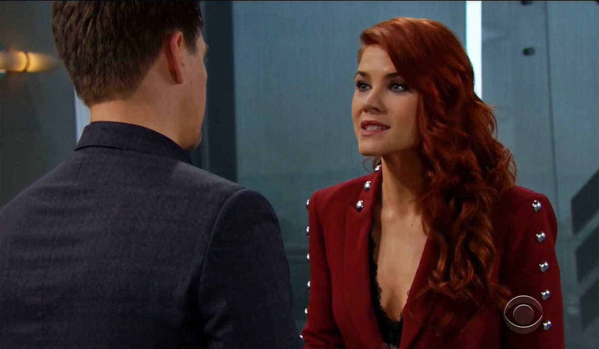 sally tells wyatt about offer on Bold and the Beautiful