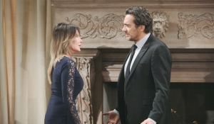 Taylor and Ridge debate on Bold and the Beautiful