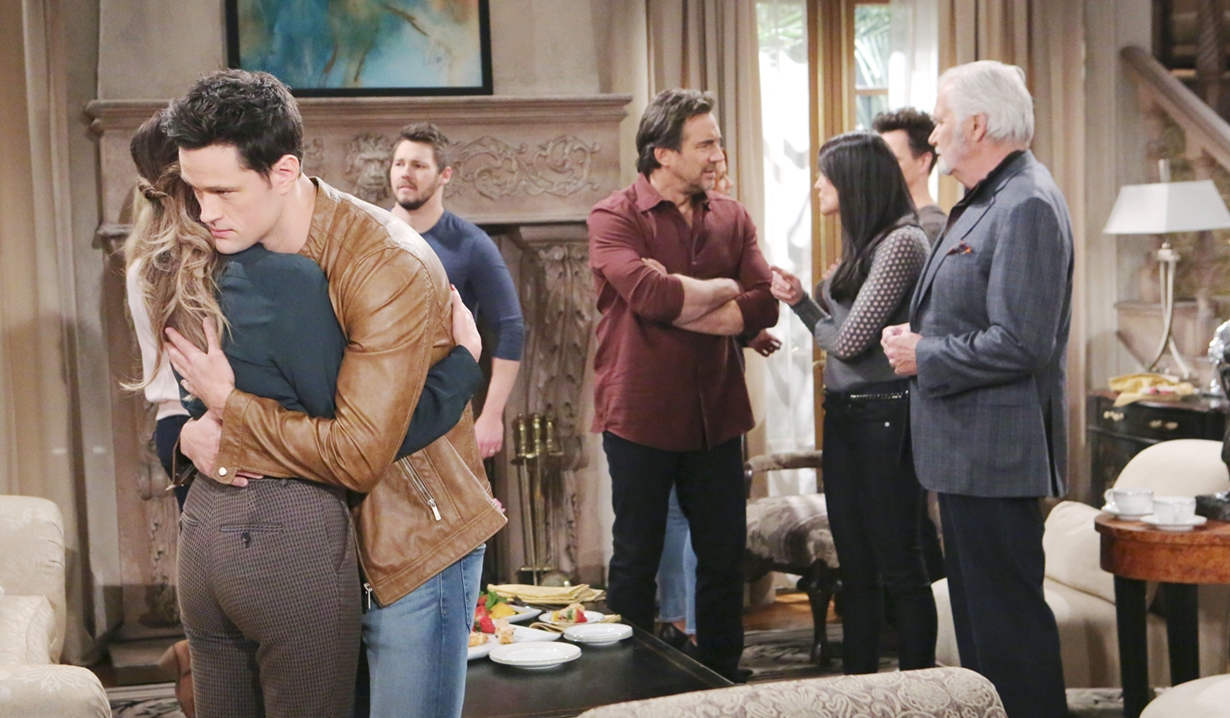 Taylor and Thomas embrace on Bold and the Beautiful