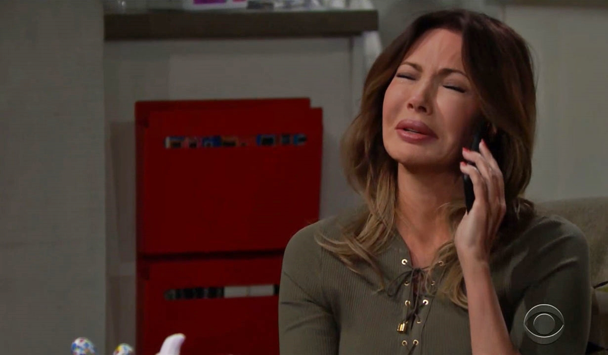 Taylor wails during call on Bold and the Beautiful