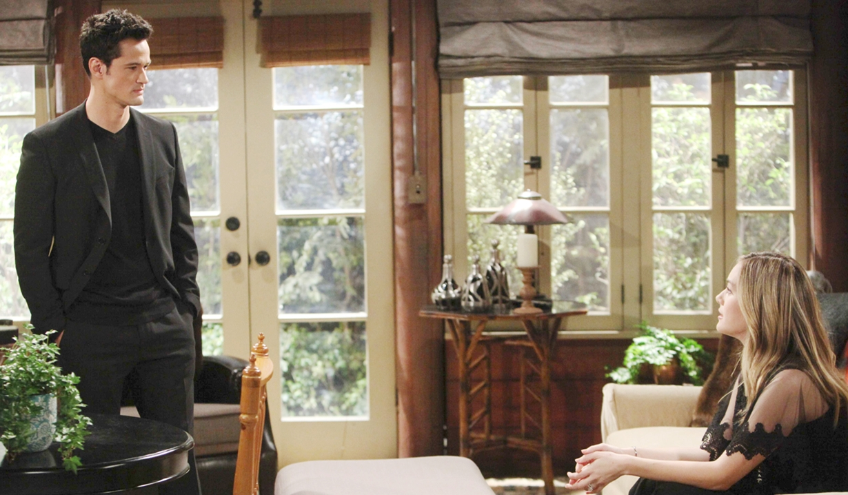 thomas and hope discuss the past on Bold and the Beautiful
