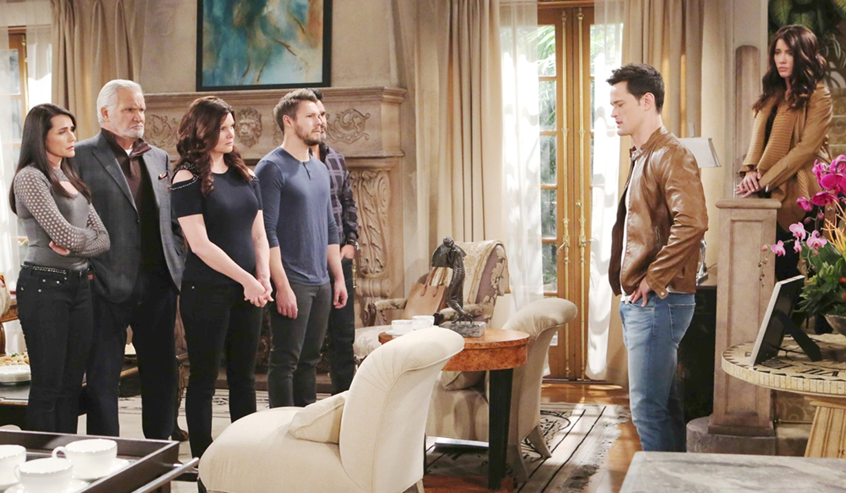 Thomas speaks to family on Bold and the Beautiful