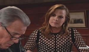 Victor listens to Phyllis on young and the restless
