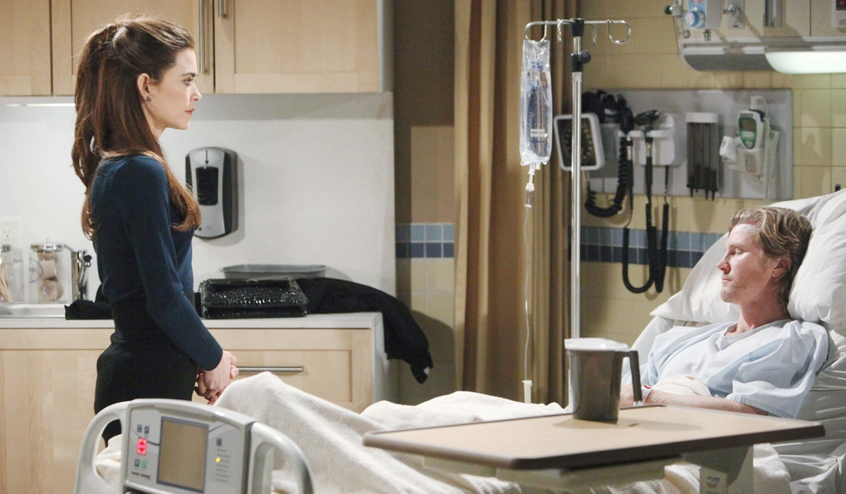 Victoria and JT in hospital on Young and the Restless